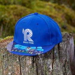 Children flatpeak cap blue